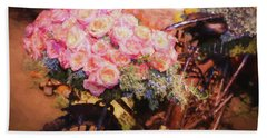 Bursting With Flowers Beach Towel by Patrice Zinck