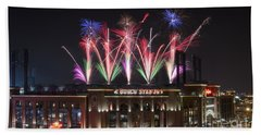 Beach Towel featuring the photograph Busch Stadium by Andrea Silies
