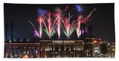 Busch Stadium Beach Towel by Andrea Silies