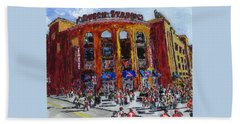 Busch Stadium Beach Towel