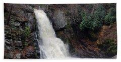 Beach Towel featuring the photograph Bushkill Falls by Linda Sannuti