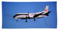 Business Express, Delta Connection, N353be, Bex Saab 340b Beach Towel