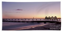 Beach Towel featuring the photograph Busselton Jetty Sunrise by Ivy Ho
