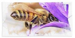 Busy As A Bee Beach Sheet