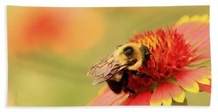 Beach Towel featuring the photograph Busy Bumblebee by Chris Berry