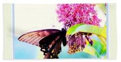 Butterfly Business Beach Towel