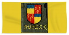 Beach Towel featuring the painting Butler Family Shield by Barbara McDevitt