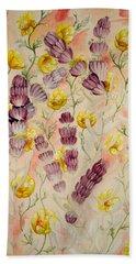 Buttercups And Lavendar Beach Sheet