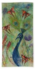 Butterflies And Peacock Beach Sheet