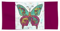 Beach Sheet featuring the painting Butterflies Are Free by Susie WEBER