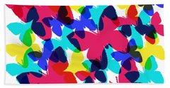Beach Towel featuring the digital art Butterflies by Bee-Bee Deigner