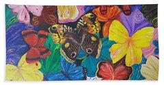 Butterflies Beach Sheet by Rita Fetisov