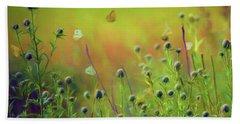 Butterflies - Wildflowers Beach Towel