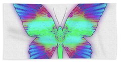Butterfly Poise #024 Beach Towel by Barbara Tristan