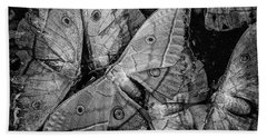 Butterfly #2056 Bw Beach Towel