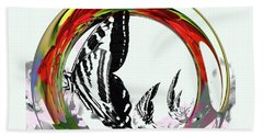 Butterfly Abstract Beach Towel