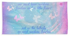 Butterfly And We Beach Towel by Sherri's Of Palm Springs