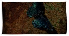 Beach Towel featuring the photograph Butterfly Art Suns Cast by Lesa Fine