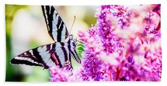 Butterfly Beautiful  Beach Towel by Peggy Franz