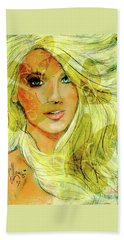 Butterfly Blonde Beach Towel