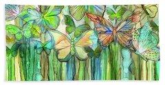 Butterfly Bloomies 3 - Rainbow Beach Towel