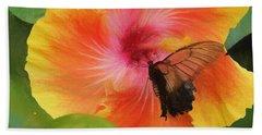 Butterfly Botanical Beach Towel by Kathy Bassett
