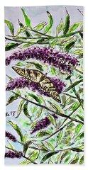 Butterfly Bush Beach Towel
