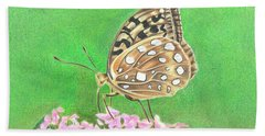 Butterfly Bush Beach Towel by Troy Levesque