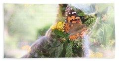Butterfly Dog Beach Sheet
