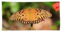 Butterfly Flower Beach Sheet by Cathy Harper