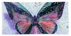 Butterfly Garden Fantasy Beach Towel