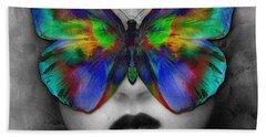 Butterfly Girl Beach Towel by Klara Acel