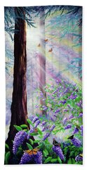 Butterfly Grove In Redwood Forest Beach Towel