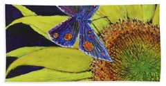 Butterfly Haven Beach Towel