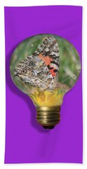 Butterfly In A Bulb II Beach Towel
