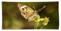 Butterfly In Bokeh Beach Towel