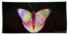 Butterfly In Retro  Beach Towel