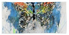 Butterfly Knowledge Painting By Lisa Kaiser Beach Towel
