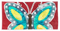 Butterfly Liberty Beach Towel by Linda Woods