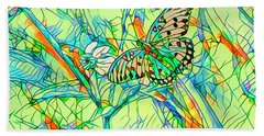 Butterfly Mosiac Beach Towel