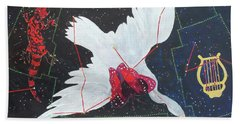 Beach Towel featuring the painting Butterfly Nebula by Denise Weaver Ross
