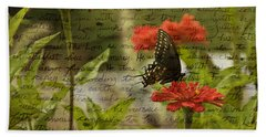 Butterfly Notes Beach Towel