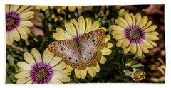 Butterfly On Blossoms Beach Sheet