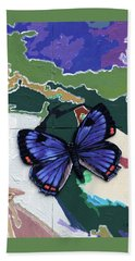 Butterfly Over Great Lakes Beach Towel