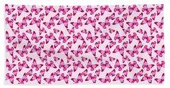 Butterfly Pattern In Pink Beach Towel