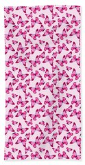 Beach Towel featuring the digital art Butterfly Pattern In Pink by MM Anderson