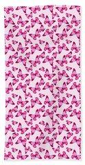 Butterfly Pattern In Pink Beach Sheet