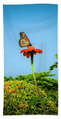 Butterfly Perch Beach Towel