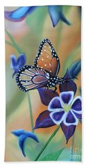 Beach Sheet featuring the painting Butterfly Series#4 by Dianna Lewis