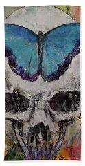Butterfly Skull Beach Towel
